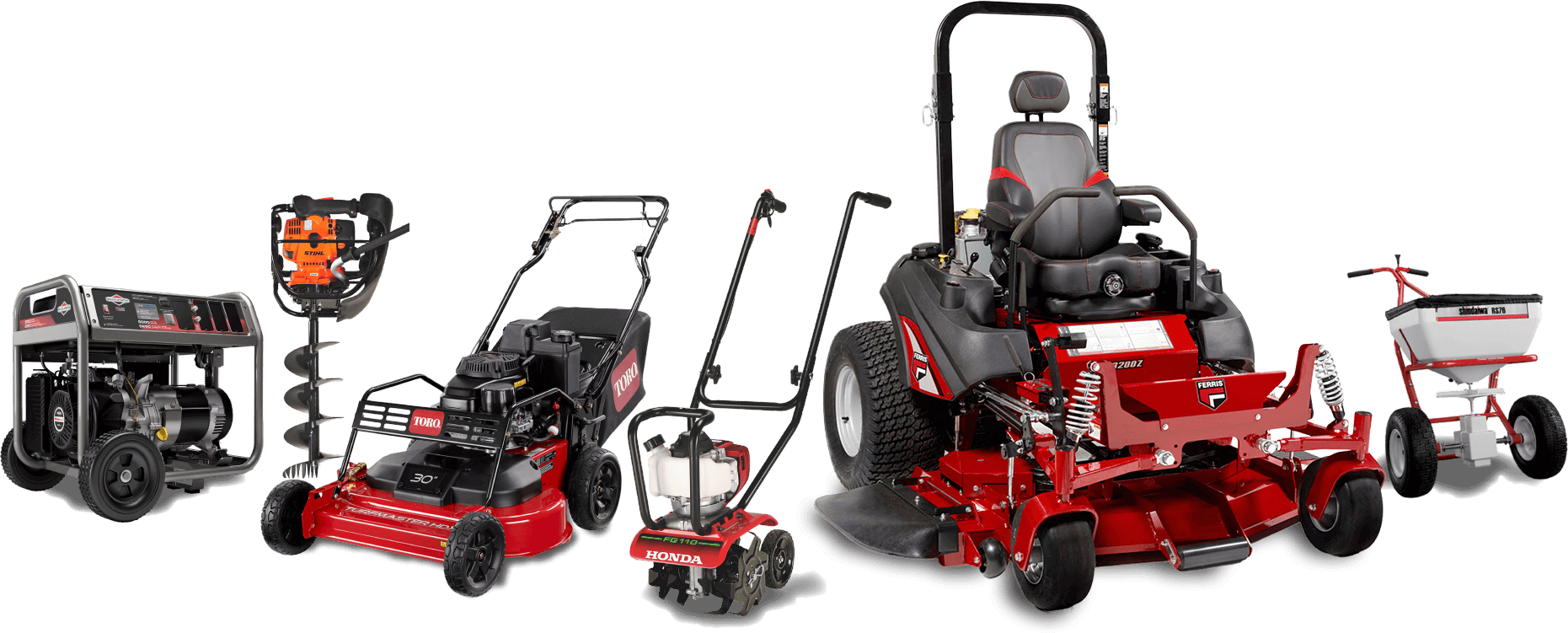 O'Connor's full lineup of lawn equipment serving the Oklahoma City Metro area